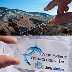 Scientists Successfully Transport Electricity Using Virtually Invisible Wires, Under Development for SolarWindow™ (Displayed on a Glass Slide)