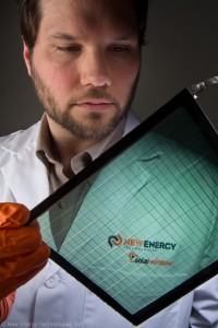 Dr. Hammond, New Energy Technologies, Inc., Examines Tinted SolarWindow™, Able to Generate Electricity, Under Development for Skyscraper Glass.