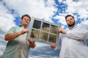 Working SolarWindow™ electricity-generating window model