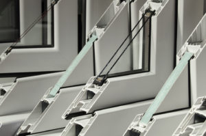 Typical Insulated Window Frame, Spacer and Edge Seal, and Laminated Glass.
